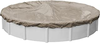 Pool Mate 5728-4 Sandstone Winter Pool Cover for Round Above Ground Swimming Pools, 28-ft. Round Pool