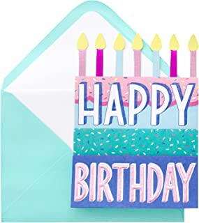 Paislee Paperie 353635 Fold Out Cake Greeting Card, Glitter