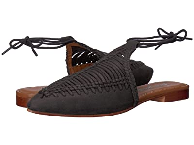 Free People Dana Woven Flat (Black) Women