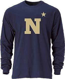 NCAA Navy Men's Ouray Long Sleeve Tee, Navy, Medium