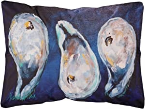 Caroline's Treasures MW1112PW1216 Oysters Give Me More Canvas Fabric Decorative Pillow, 12H x16W, Multicolor