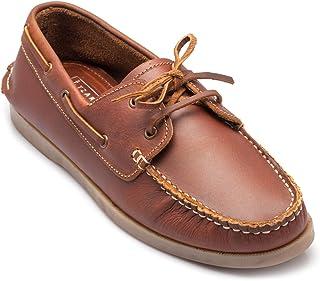 tZaro Genuine Leather Tan Boat Shoe - Timber