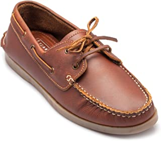 tZaro Genuine Leather Tan Boat Shoe - Timber