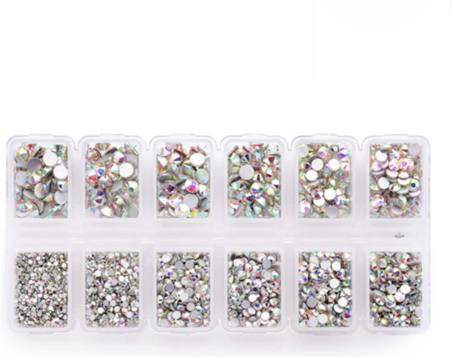 4200 Portland Mall Pieces Flat Back Large-scale sale AB Rhinestones Craft Crystal Ge for Round