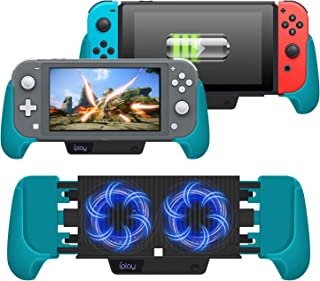 Cooling Charging Grip for Nintendo Switch & Switch Lite, 4 in 1 Accessories Works as Fan, Charger, Grip and Foldable Stand...