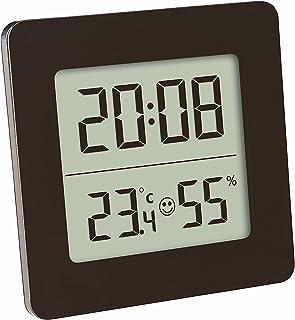 TFA Dostmann 30.5038 Thermomètre hygromètre numérique climat intérieur, noir avec batterie