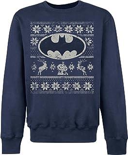 Batman Fair Isle Logo Sweat-Shirt Homme