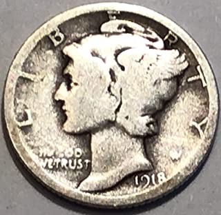 1918 S Mercury Dime Dime Good