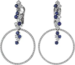 Miseno - Vesuvio 18k Gold/Sapphire Earrings