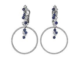 Vesuvio 18k Gold/Sapphire Earrings
