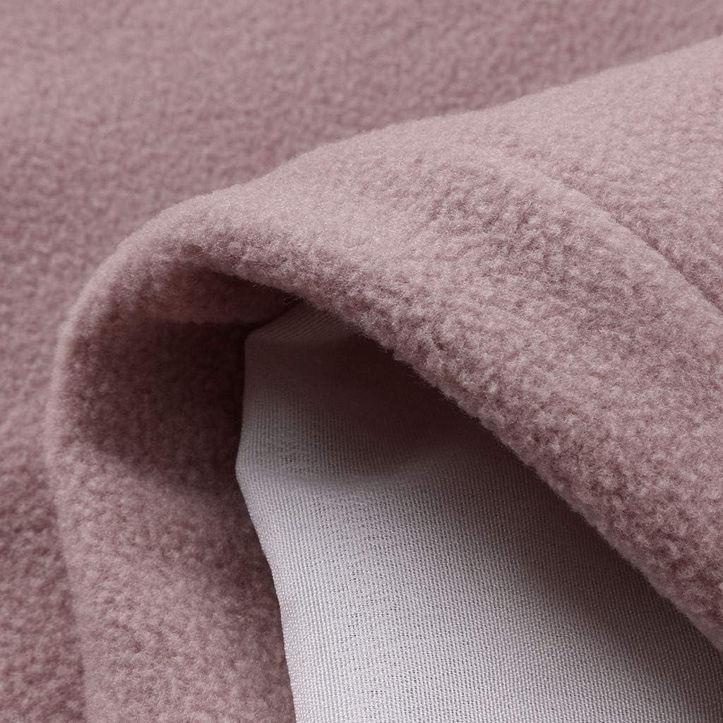 Lulupi Blazer Jacke Damen Cardigan, Lang Blazer Stehkragen Casual Einreiher Anzugjacke Frauen Elegant Slim Fit Mantel Trenchcoat mit Taschen Rosa