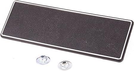 1969-1970 ImpalaCapriceBel Air Radio Delete Plate Black With Chrome GM3948563