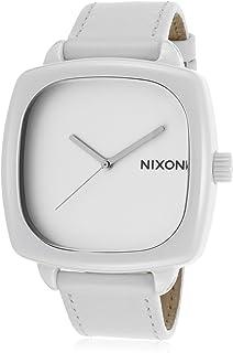 نيكسون شاتر ساعة كاجوال للجنسين ، حزام جلد ، رمادي - A262100