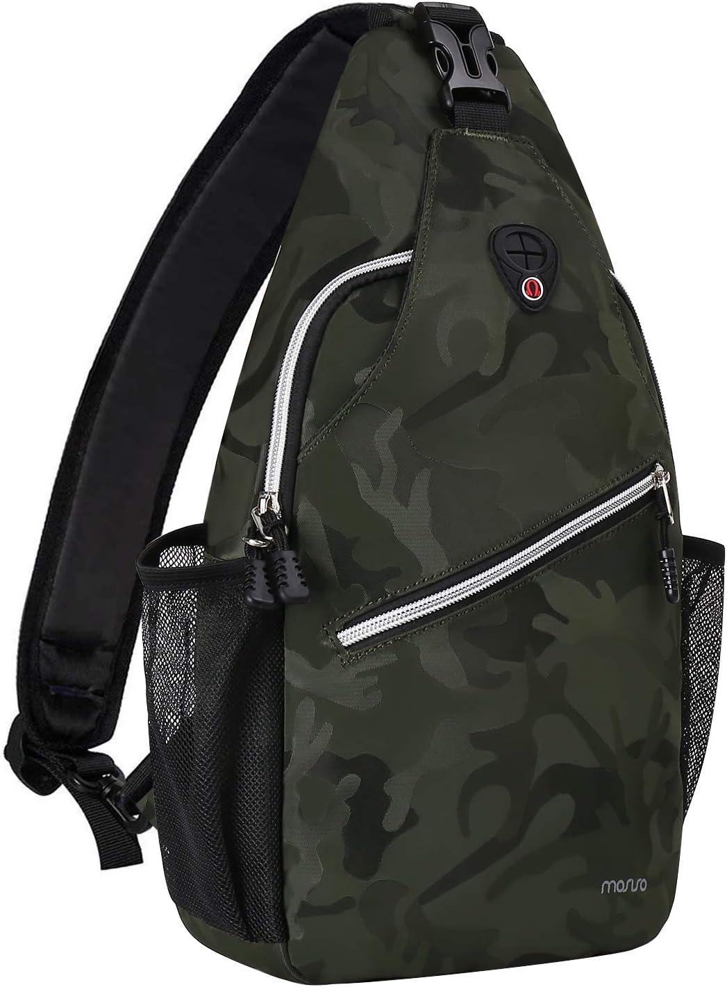 MOSISO Sling Backpack Travel Hiking free Daypack Pattern price Crossbo Rope