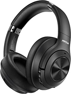 Mpow H21 Hybrid Noise Cancelling Headphones, 65H Playtime Wireless Headphones, Built-in Mic, Bluetooth 5.0, HD Stereo Soun...