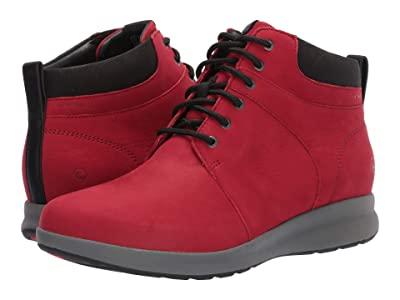 Clarks Un Adorn Walk (Red Nubuck) Women