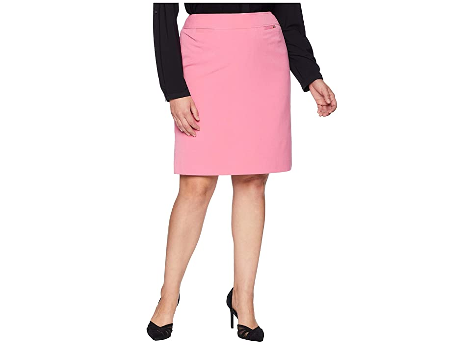 Tahari by ASL Bistretch Pencil Skirt (Peony) Women