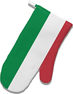 TooLoud Italian Flag All Over White Printed Fabric Oven Mitt All Over Print