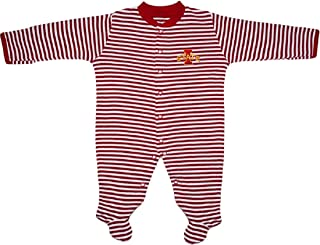 Iowa State University Cyclones Striped Footed Baby Romper