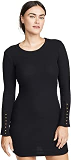 Women's Button Cuff Mini Dress