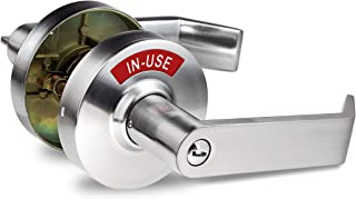 Commercial Privacy Locks with Indicator (Satin Chrome)