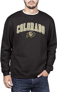 NCAA Colorado Buffaloes Men's Team Color Crewneck Sweatshirt, Colorado Buffaloes Black, XX-Large