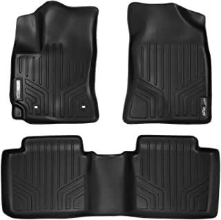 MAXLINER All Weather Custom Fit 2 Row Black Floor Mat Liner Set Compatible With 2014-2019 Toyota Corolla (Does not fit IM Models)