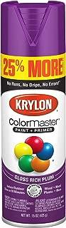 Krylon K03423007 ColorMaster Primer Bonus, Gloss, Rich Plum, 15 oz. Spray Paint, 25%