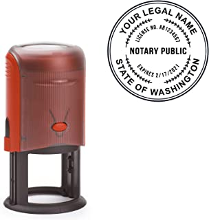 Round Notary Stamp for The State of Washington