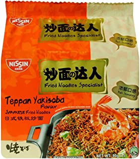 Nissin Japanese Fried Teppan Yakisoba Flavour Instant Noodle 5 Packets, 450 g