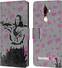 Official Brandalised Mona Launcher Banksy Art Street Vandals Leather Book Wallet Case Cover Compatible for Nokia 7 Plus