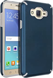 Galaxy J7 (2015) Case,Galaxy J7 Case,SENON Slim-fit Shockproof Anti-Scratch Anti-Fingerprint Protective Case Cover For Samsung Galaxy J7 Neo J700, Blue