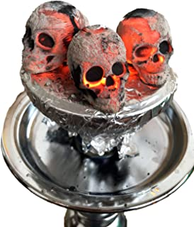 30 carboni con design a teschio, teschi, cranio, per narghilè, shisha, hookah : Skullforshisha.