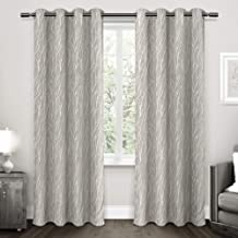 Exclusive Home Forest Hill Woven Window Curtain Panel Pair with Grommet Top, 52x108, Dove Grey, 2 Piece
