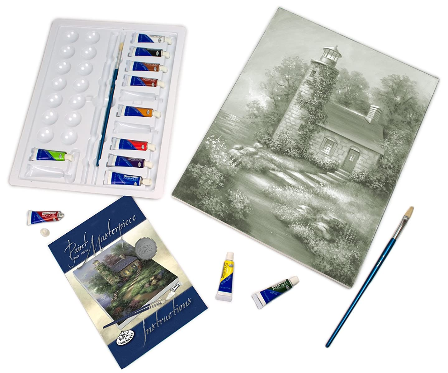 Royal & Langnickel Paint Your Own Masterpiece Painting Set, Romantic Lighthouse gky151899511