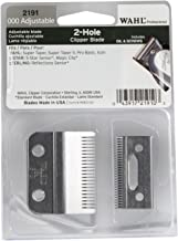 Wahl Professional Adjustable Clipper Blade set #2191 – For 5 Star Senior, Magic Clip, and Reflections Senior – Includes Oil, Screws & Instructions