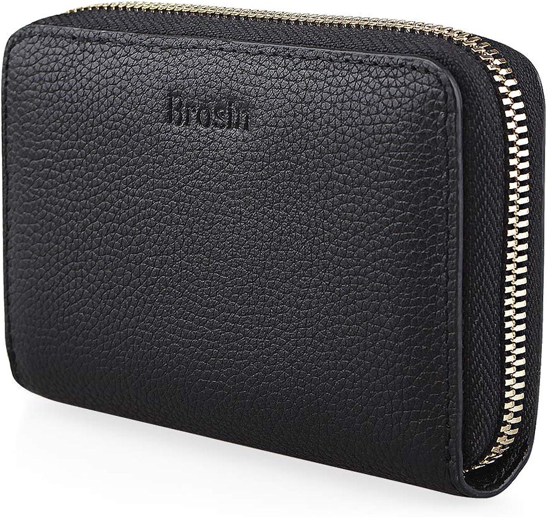 Brosin Women's RFID Blocking Large Capacity Luxury Genuine Leather Clutch Wallet Card Holder Organizer Ladies Purse