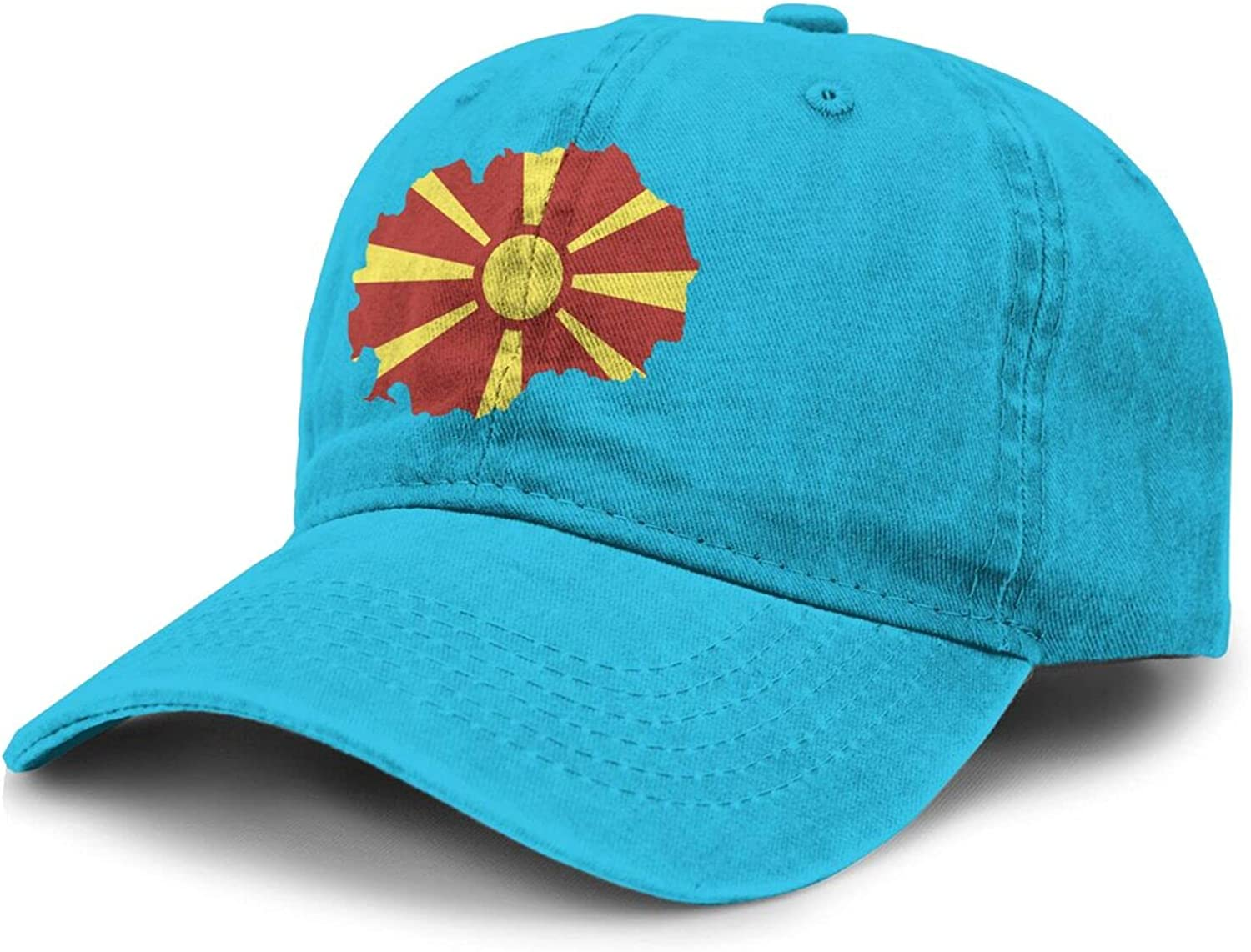 PARKNOTES Macedonia Map Country of Europe Cheap and Durable Adult Cowboy Hat Unisex