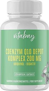 Coenzym Q10 ubichinon 200 mg – 120 vegankapslar – hög dosering – energi, uthållighet, föryngrad hud