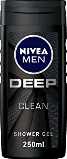 NIVEA MEN DEEP Shower Gel, Micro-Fine Clay, Woody Scent, 250ml