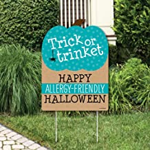 Big Dot of Happiness Teal Pumpkin - Halloween Allergy Friendly Trick or Trinket Welcome Yard Sign