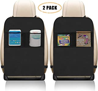 Freddie and Sebbie Kick Mats- Luxury Car Seat Back Protectors 2 Pack, Perfect Backseat Organizer and Seat Covers For Car, SUV, Auto and Child Safety Seat Accessories