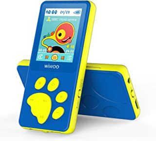 "Wiwoo MP3 Player for Kids, Portable Music Player with FM Radio Video Games Sleep Timer Voice Recorder, 1.8"" LCD Screen MP3..."