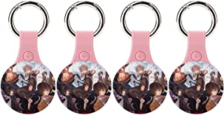 $28 » linguwiseor Bungo Stray Dogs PU Leather Protective Case for Airtags Dog Anti Lost Tracker AirTags Finder Accessories with ...