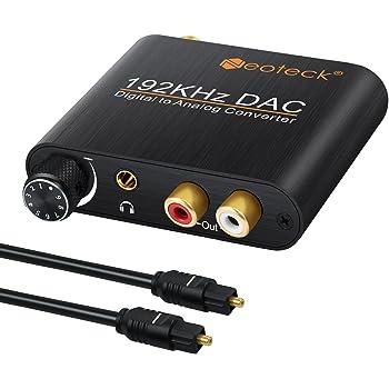 Convertitore Audio Digitale//Analogico ShangSky Cavo Audio Ottico 3,5 Mm Audio Coassiale Toslink per Audio Rca L//R