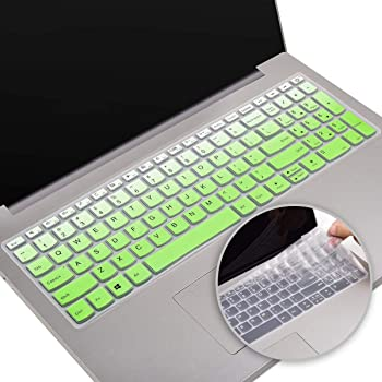 Saco Keyboard Protector Silicone Skin Cover for Lenovo Y50-70 59-445565 15.6-inch Laptop Transparent