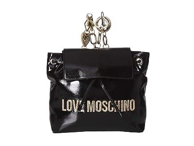 LOVE Moschino Logo Backpack (Nero) Backpack Bags