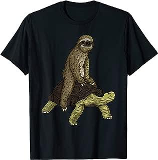 Sloth Turtle Shirt Speed is Relative Sloth Riding Tortoise