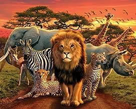 Pyramid America African Kingdom Lion Tiger Leopard Elephant Zebra Africa Animals Cool Wall Decor Art Print Poster 20x16