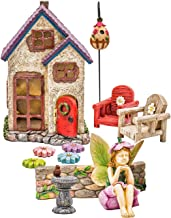 Fairy Garden Kit with House | Fairy Garden Accessories and Supplies | Fairies Figurines | Animals | Furniture (Fairy's Retreat 11 Pieces)